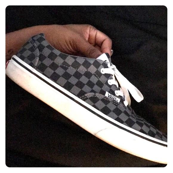 Vans Shoes | Black And Grey Checkered | Poshmark